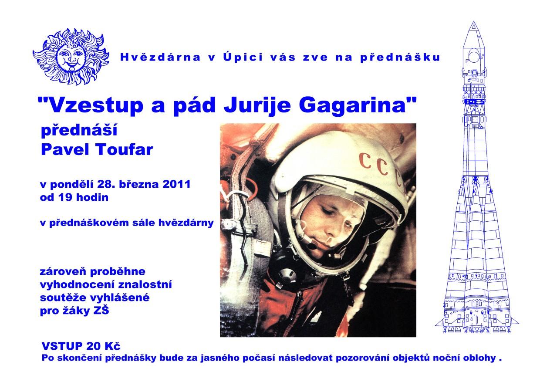 Plakát Vzestup a pád Jurije Gagarina